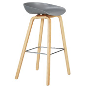 Grey Hay Bar Stool