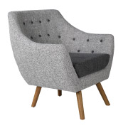 Grey Poet Single Seater Couch