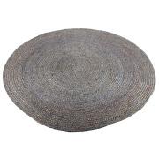 Grey Round Jute Rug