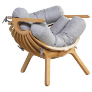 Grey Shell Cafe Chair