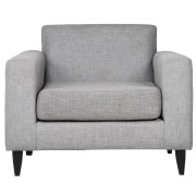 Grey Sophia Single Seater Couch