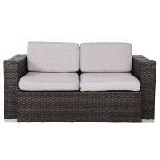 Grey Wicker Double Seater Couch