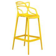 Yellow Twist Bar Stool