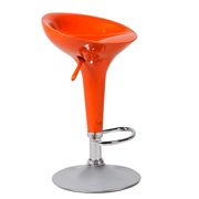 Orange Apollo Bar Stool