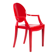 Red Ghost Chair (With Arms)