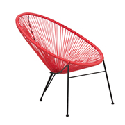 Red Acapulco Cafe Chair