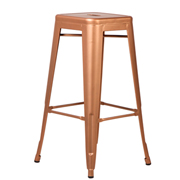 Rose Gold Xavier Bar Stool