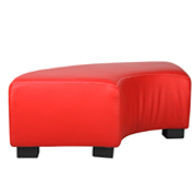 Red Curved Ottoman