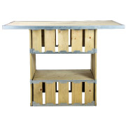 Knock Down Double Base Rectangular Top Cocktail Table