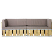 Knock Down Double Seater Couch (With Sides)
