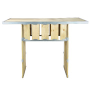 Knock Down Single Base Rectangular Top Cocktail Table