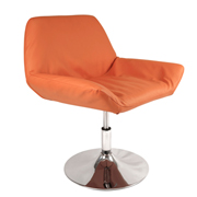 Orange Edge Swivel Single Seater Couch