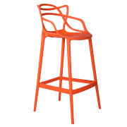 Orange Twist Bar Stool