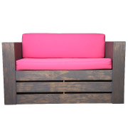 Pink Pallet Double Seater Couch
