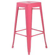 Pink Xavier Bar Stool