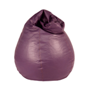 Purple Leather Bean Bag