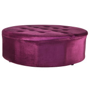Purple Round Suede Day Bed
