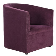Purple Tristan Tub Single Seater Couch
