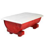 Red Rectangular Drum Coffee Table
