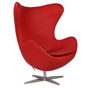 Red Egg Single Seater Couch