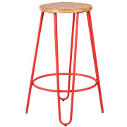 Red Hairpin Bar Stool