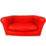 Red Blow Up Double Seater Couch