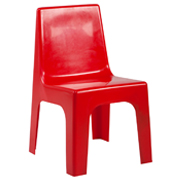 Red Kids Plastic Chair