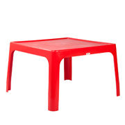 Red Square Plastic Table
