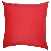 Red Leather Scatter Cushion