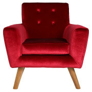 Red Sexton Single Seater Couch