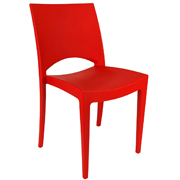 Red Stellar Cafe Chair