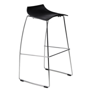Black Scoop Bar Stool