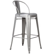 Silver Xavier Mid Back Bar Stool