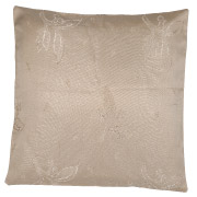Taupe Floral Patterned Scatter Cushion