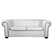 White Madison Double Seater Couch