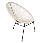White Acapucio Cafe Chair