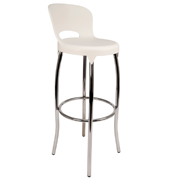 White Asteroid Bar Stool