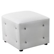 White Crystal Box Ottoman