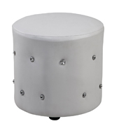 White Crystal (Round) Ottomans