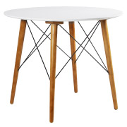 White Eames Cafe Table