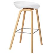 White Hay Bar Stool
