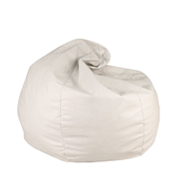 White Leather Bean Bag