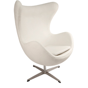 White Egg Single Seater Couch