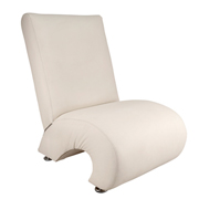 White Question Mark Single Seater Couch