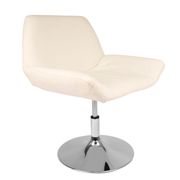 White Edge Swivel Single Seater Couch