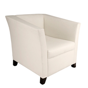 White Club Single Seater Couch