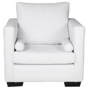 White Ontario Single Seater Couch