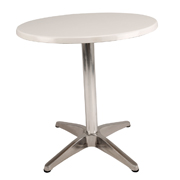 White Round Cafe Table