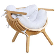 White Shell Cafe Chair