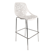 White Spring Bar Stool